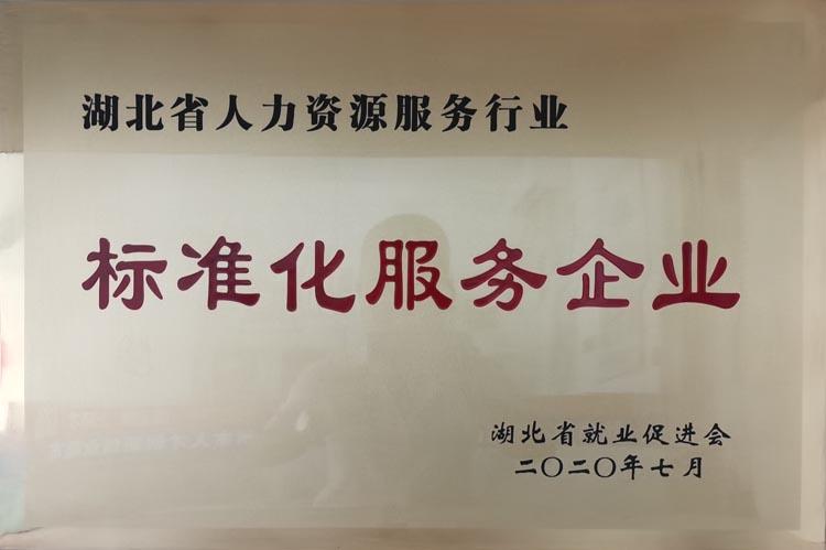 湖北省人力资源服务行业标准化服务企业